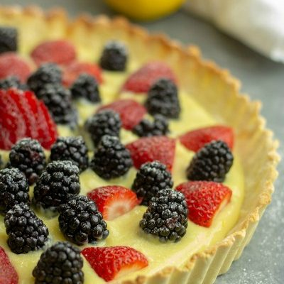 Amazing Low Carb Easy Lemon Curd Tart is an extremely lemony tart with a shortbread style crust that will have you believing that dinner starts with dessert!