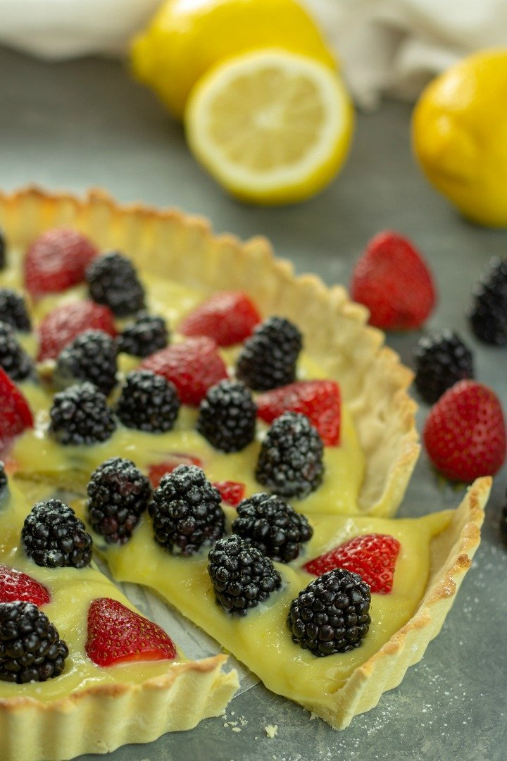 Amazing Low Carb Lemon Curd Tart is an extremely lemony tart with a shortbread style crust that will have you believing that dinner starts with dessert!