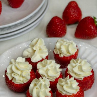 Try Low Carb Cheesecake Stuffed Strawberries. Fresh and KETO friendly!
