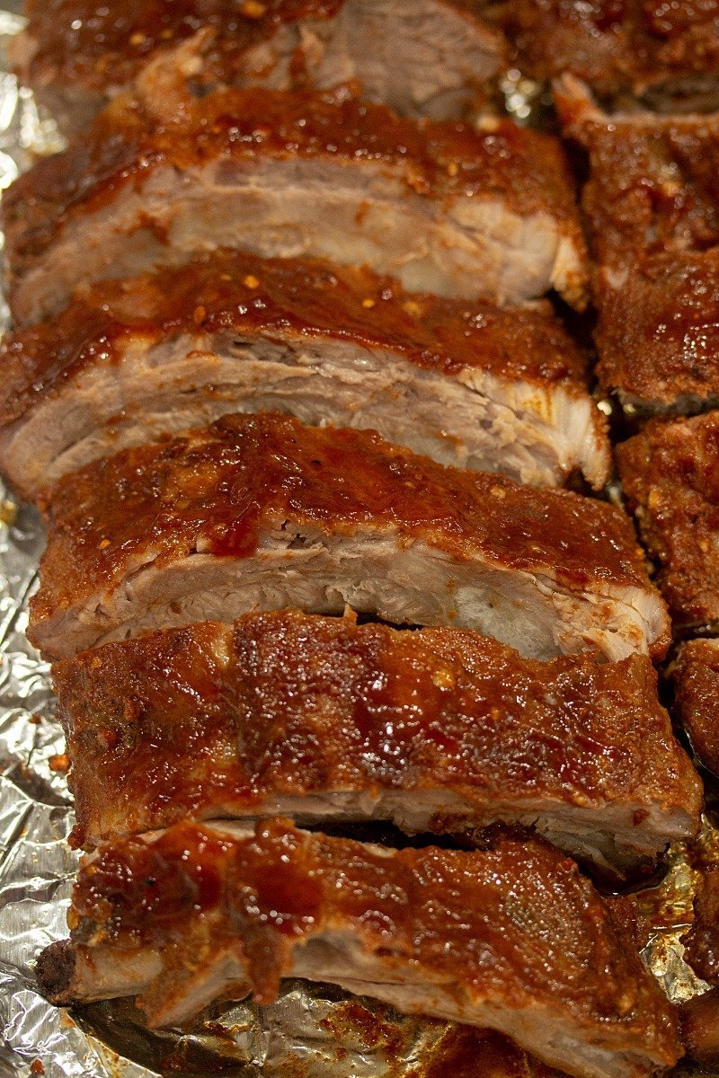 Low Carb Oven Barbecue Ribs