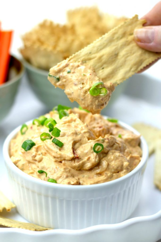 This low carb and elegant party dip is perfect for any event. Everyone will love it and it takes less than 5 minutes to make!