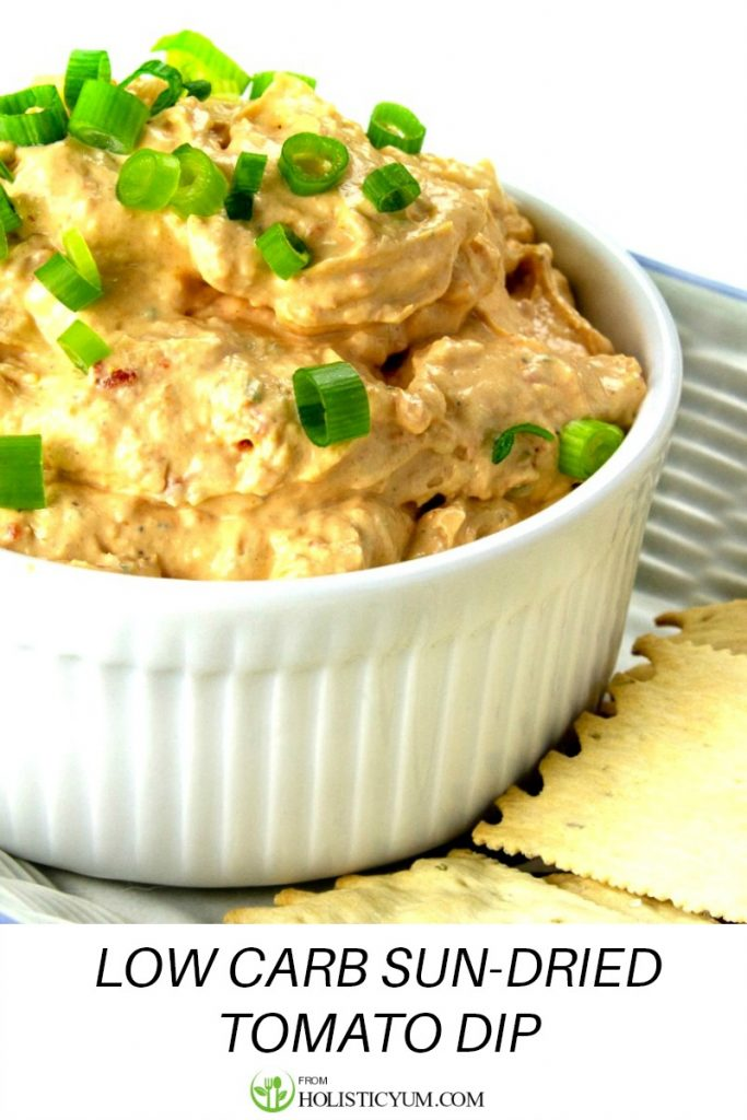 Low Carb Sun-Dried Tomato Dip is easy to make and will disappear in minutes!
