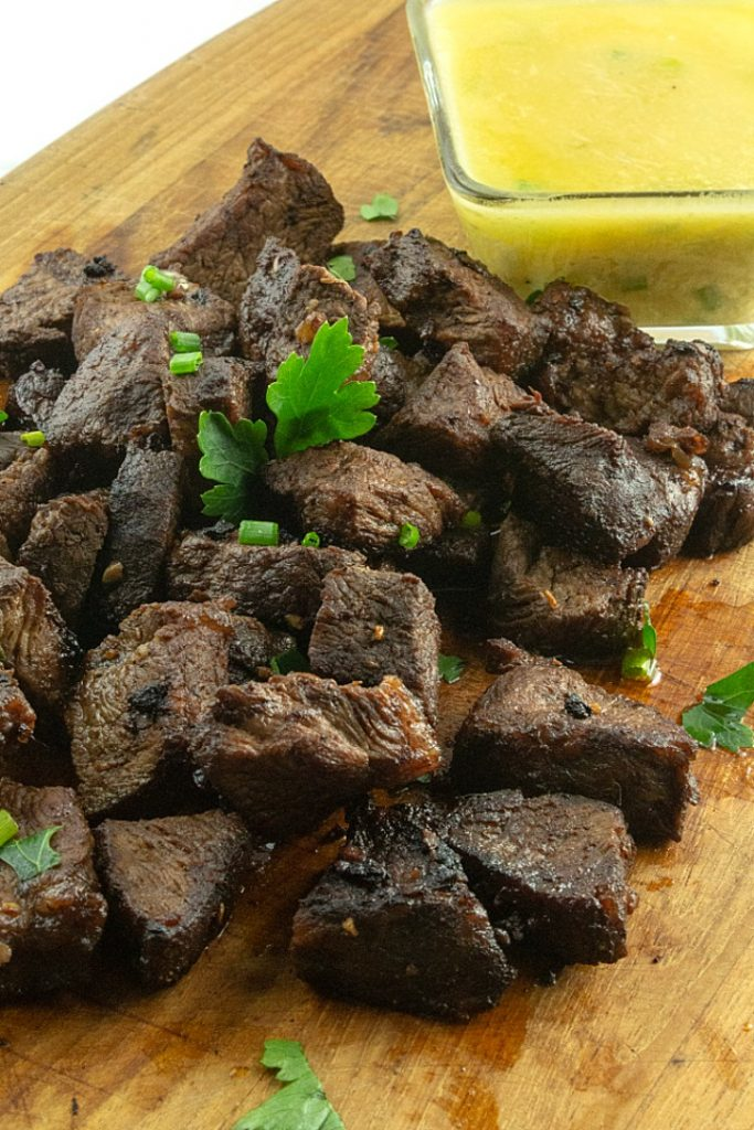 These Keto Marinated Steak Bites pack in so much flavor and are super easy to make! Use your favorite cut of steak, add a dipping sauce and you are ready to party!