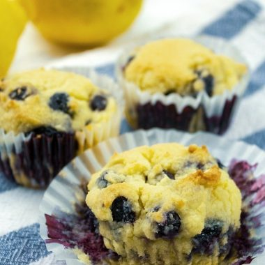 Super moist keto blueberry lemon muffins from scratch are quick and simple to make in minutes!