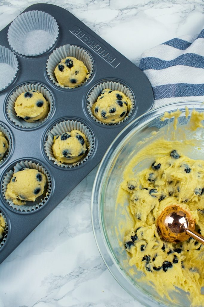 Super moist keto blueberry lemon muffins from scratch are quick and simple to make!