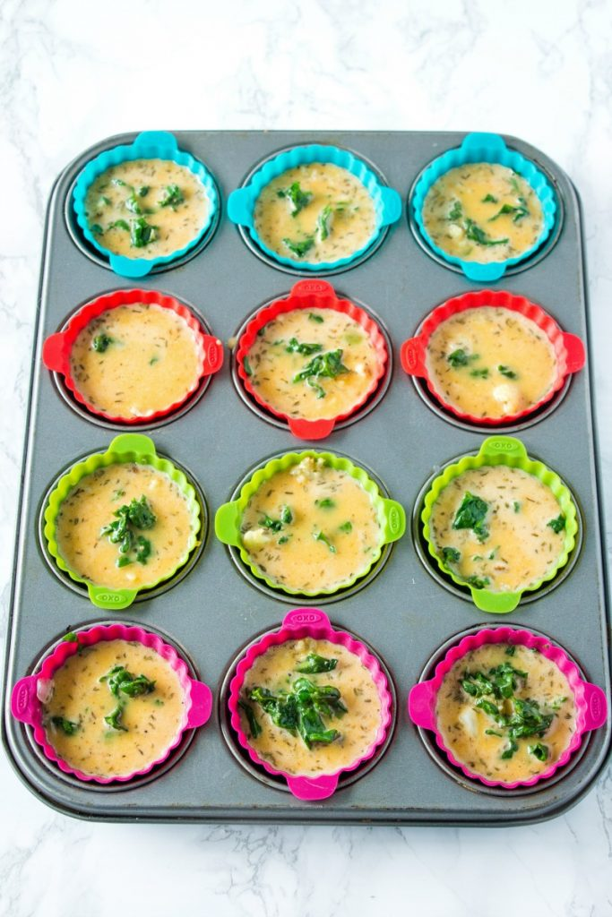 Egg muffins in silicone cups