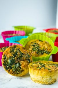 Easy Keto Vegetable Egg Muffins filled with healthy veggies are great for grab and go breakfasts or snacks.