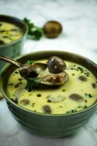 Smoky and full of woodsy mushroom flavor, this easy ham mushroom soup tastes decadent but is totally low carb and gluten-free.