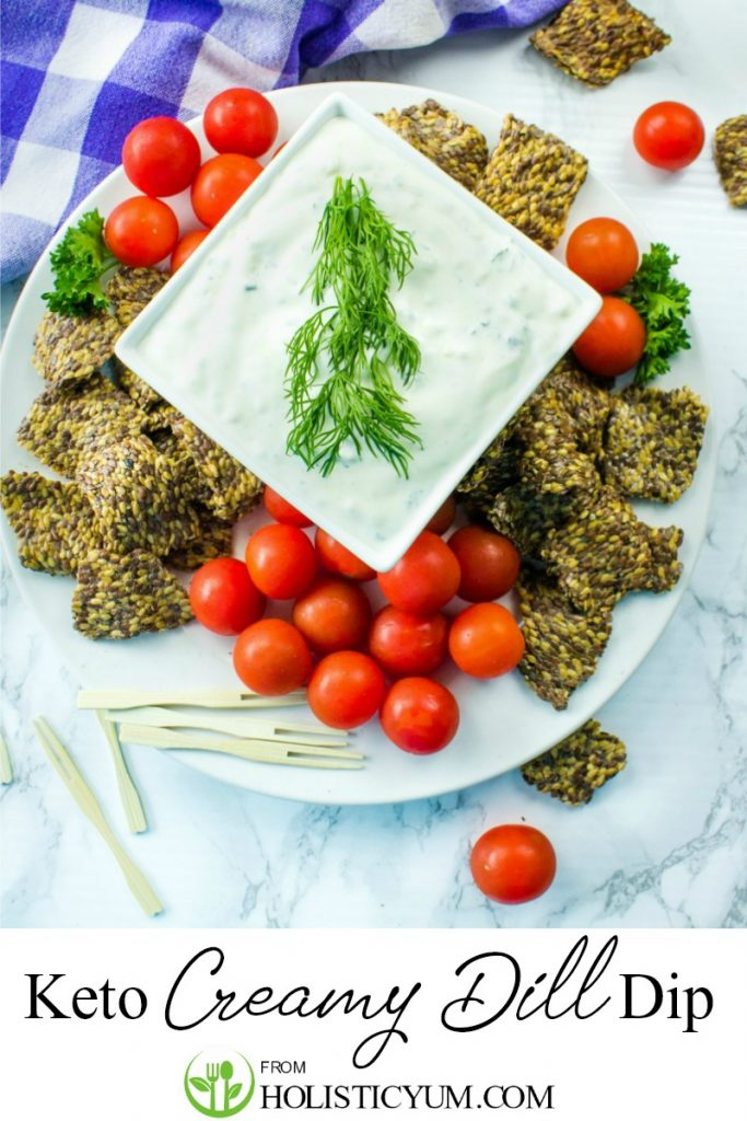 Learn to make Keto Creamy Dill Dip! This EASY recipe with mayonnaise and sour cream takes just 5 minutes + 7 ingredients.