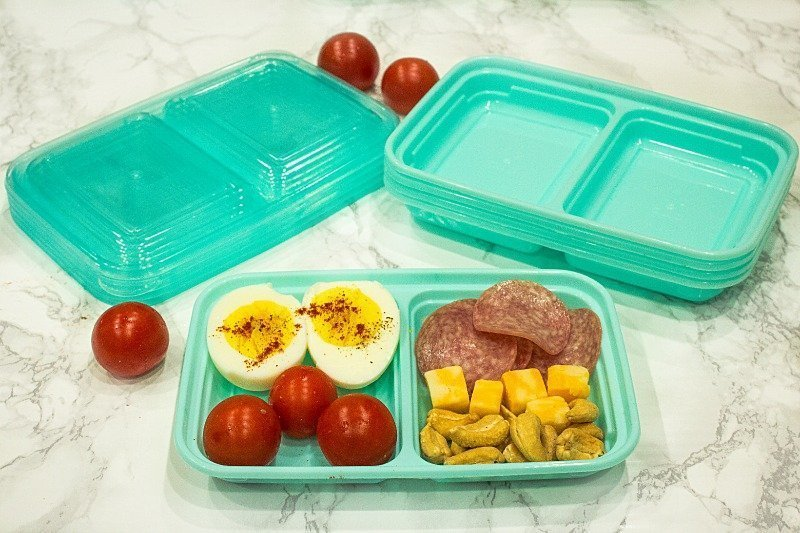 Prep ahead little Snack Boxes for an easy low carb grab and go lunch or meal!
