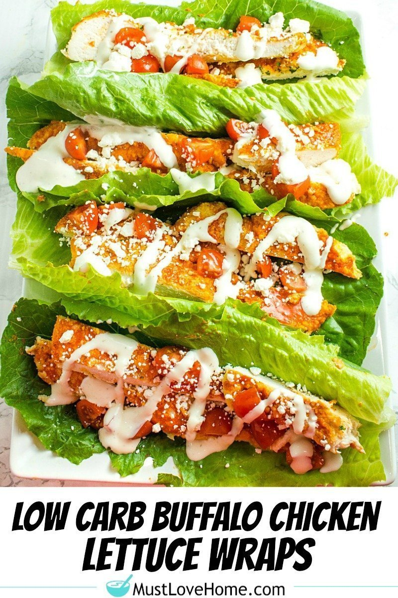Get your taste buds humming with Keto Oven Buffalo Chicken Wraps. Made with chicken breasts, almond flour, buffalo sauce and tangy blue cheese toppings, they're are easy to make and packed with bold flavor and protein!