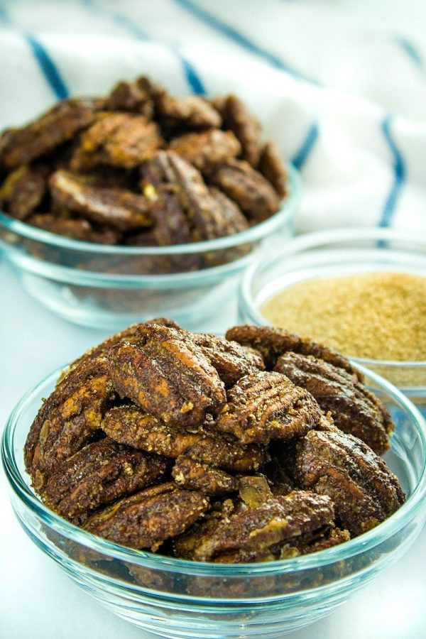 So irresistible, these Easy Low Carb Keto Candied Pecans are made with only a handful of ingredients and deliver amazing taste. Great for snacking or gift-giving!