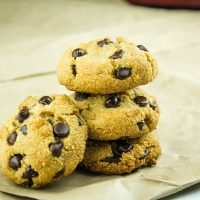 These Almond Flour Chocolate Chip Cookies are moist, chewy and loaded with sugar-free chocolate chips. Just like the original but only 2 grams of net carbs per cookie.#holisticyum