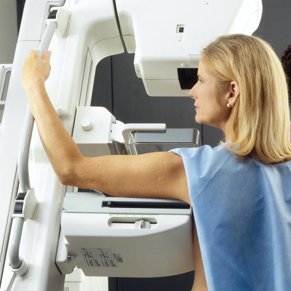 getting a mammogram